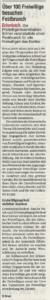 Beitrag in der Zürichsee-Zeitung 6.9.2019